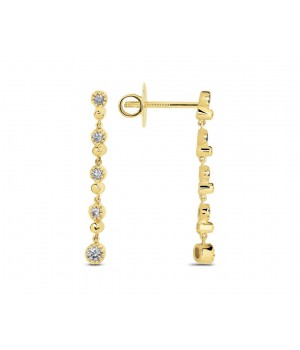 Diamond Drop Long Earrings DED1006