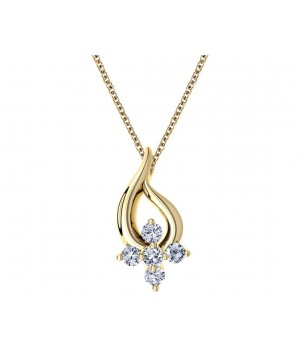 Beautiful Floral Diamond Pendant DPC1003