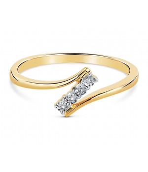 Classic Four Stone Diamond Ring in 18k Yellow Gold DRC1002