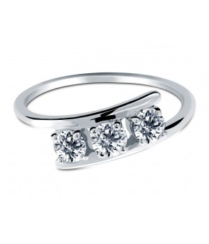 Trinity Diamond Ring in 18k White Gold DRC1013