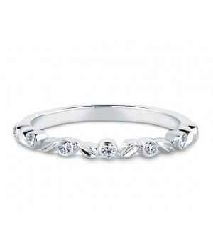 Elegant Seven Stone Diamond Ring in 18k White Gold DRC1020