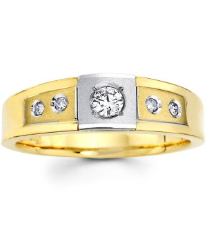 18k White and Yellow Gold Diamond Ring DRM5003
