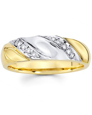 18k White and Yellow Gold Diamond Ring DRM5004