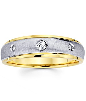 18k White and Yellow Gold Diamond Ring DRM5011