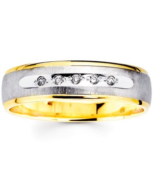 18k Yellow and White Gold Diamond Ring DRM5016