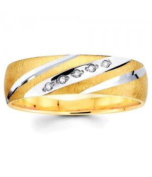 18k Yellow and White Gold Diamond Ring DRM5017
