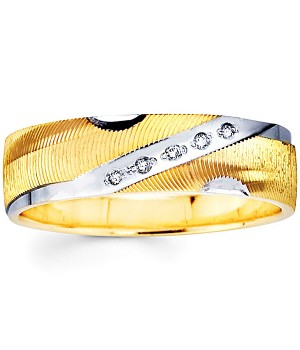 18k Yellow and White Gold Diamond Ring DRM5018