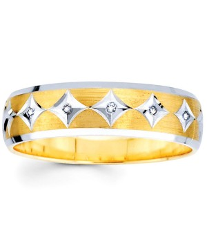 18k Yellow and White Gold Diamond Ring DRM5019