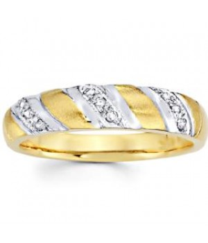 18k Yellow and White Gold Diamond Ring DRM5020