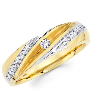 18k Yellow and White Gold Diamond Ring DRM5043