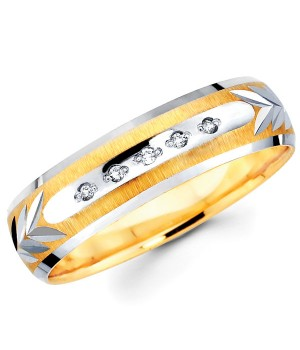 18k Yellow and White Gold Diamond Ring DRM5045
