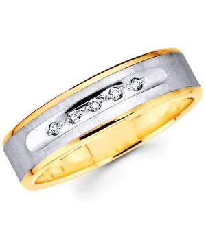 18k Yellow and White Gold Diamond Ring DRM5046