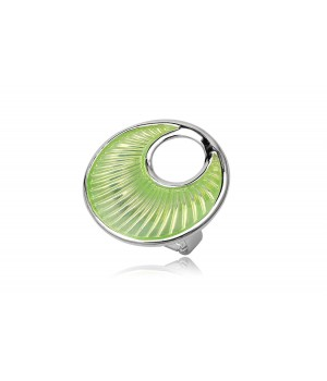 Green Round Enamel Ring Nickel Free Metal