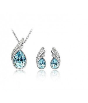 Platinum Plated Fashion Set Made with AU Crystals FJS1006