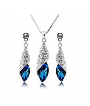 Platinum Plated Trendy Set made with AU Crystal FJS1010