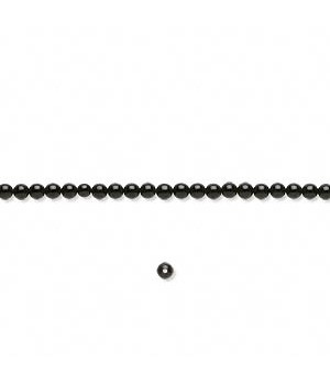 Black Onyx Round Smooth Beads 2mm Sold Per 16 inch Strand
