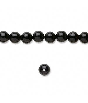 Black Onyx Round Smooth Beads 6MM Sold Per 16 inch Strand