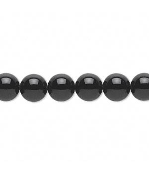 Black Onyx Round Smooth Beads 8MM Sold Per 16 inch Strand