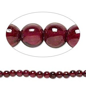 Garnet dyed Round Smooth Beads 4 - 4.5 MM Sold Per 16 inch Strand