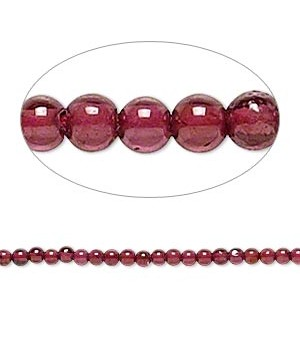 Garnet dyed Round Smooth Beads 2 MM Sold Per 16 inch Strand