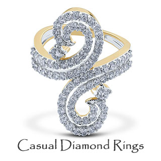 Casual Diamond Rings